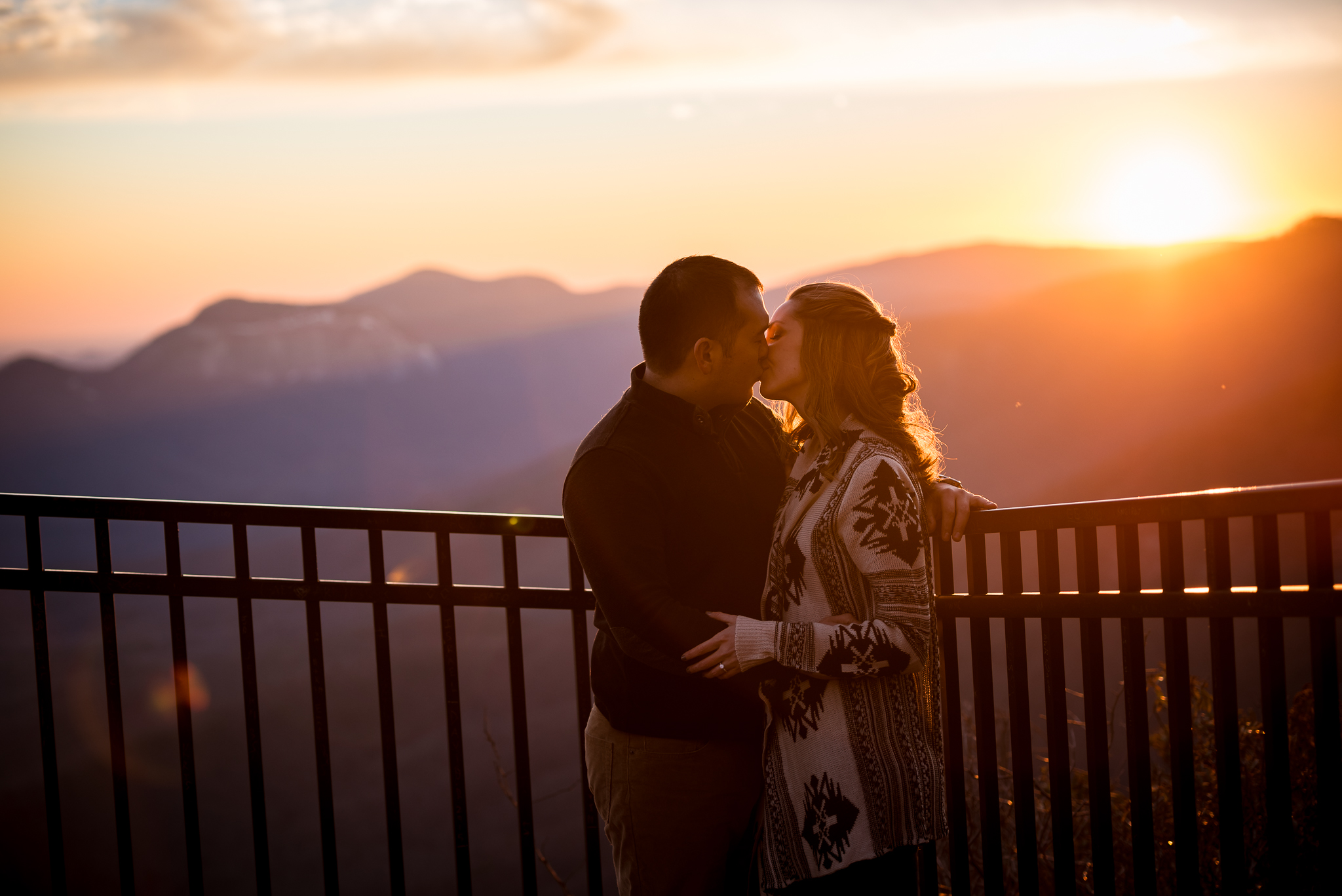 Sunset Engagement at Caesar's Head State Park and YMCA Pretty Place | Sara + David