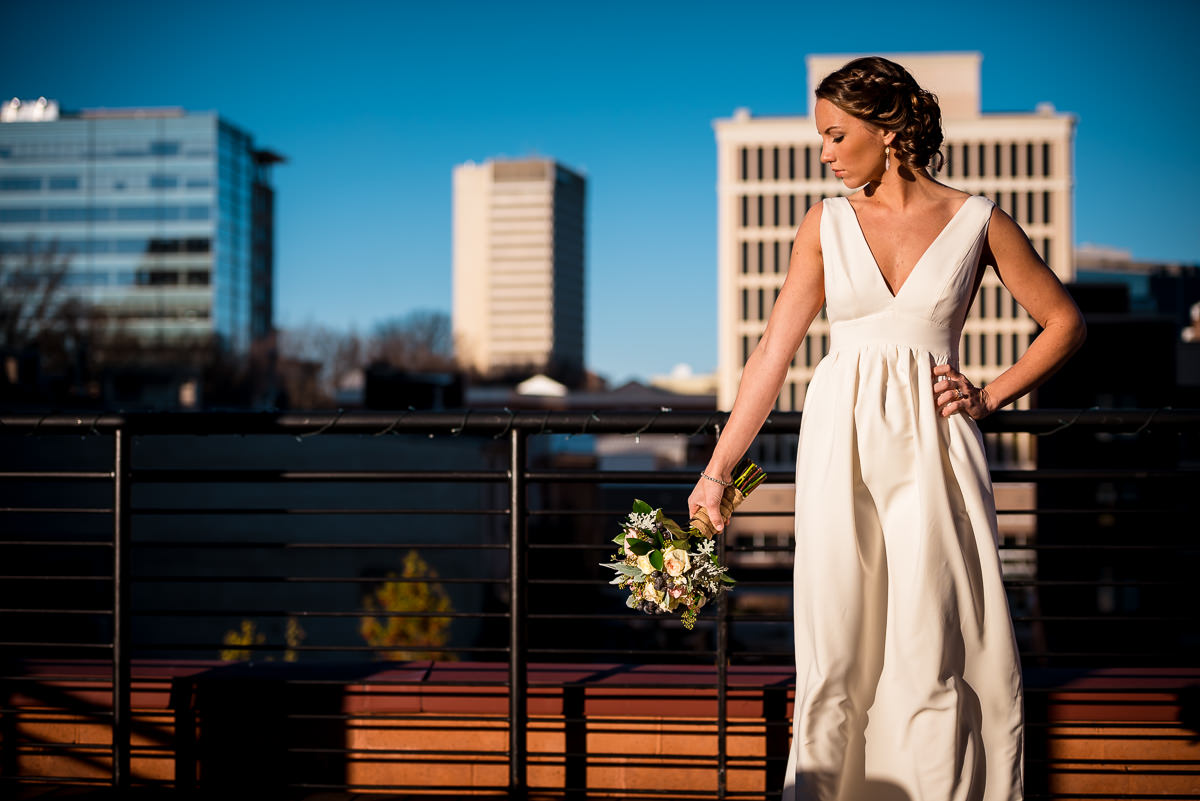 downtown greenville bridal portrait