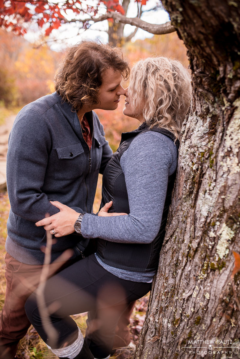 Fall engagement photos at the Blue Ridge Parkway