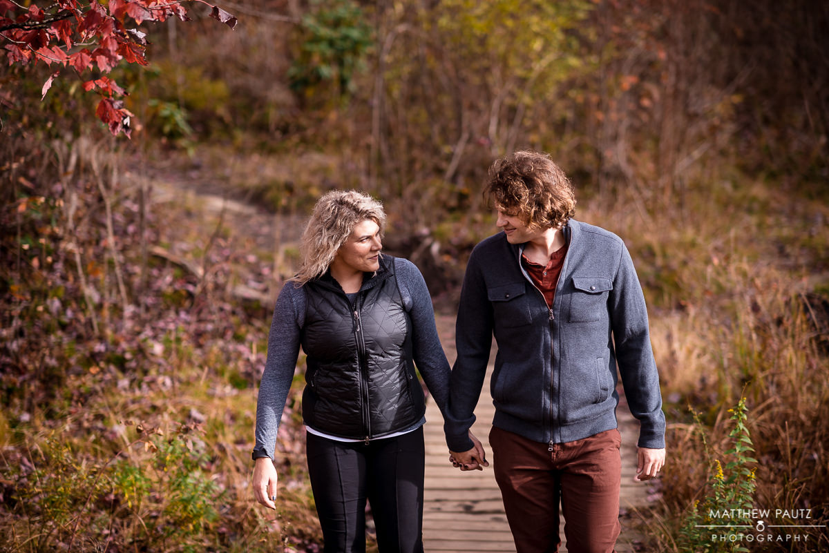 Fall mountain engagement photos