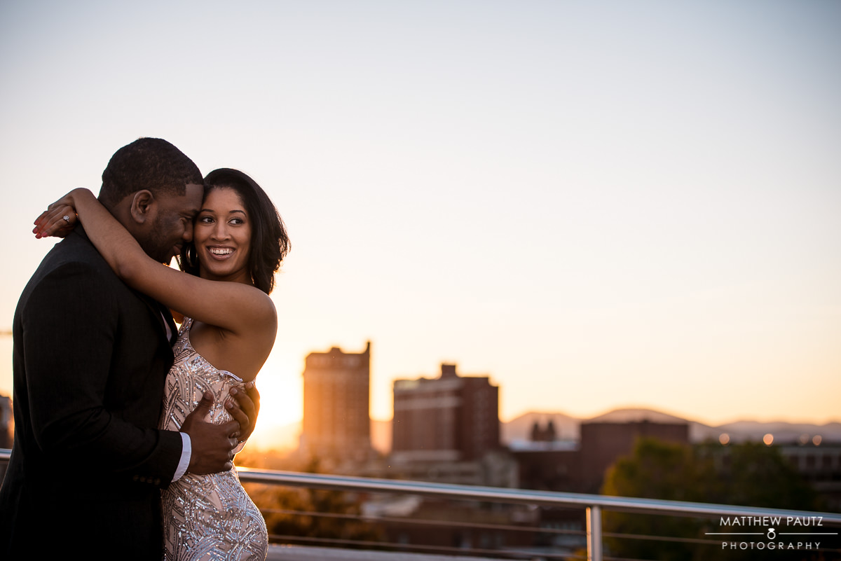 Asheville engagement photos at Sunset