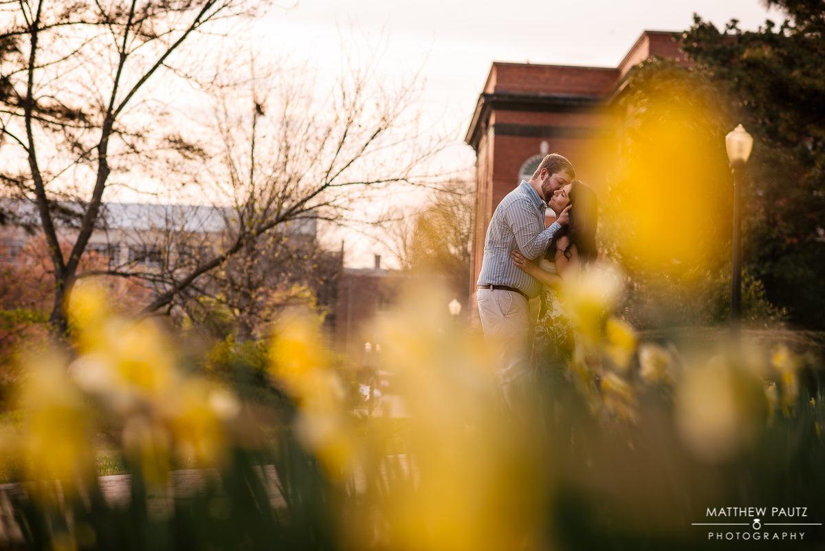 Clemson university engagement photo
