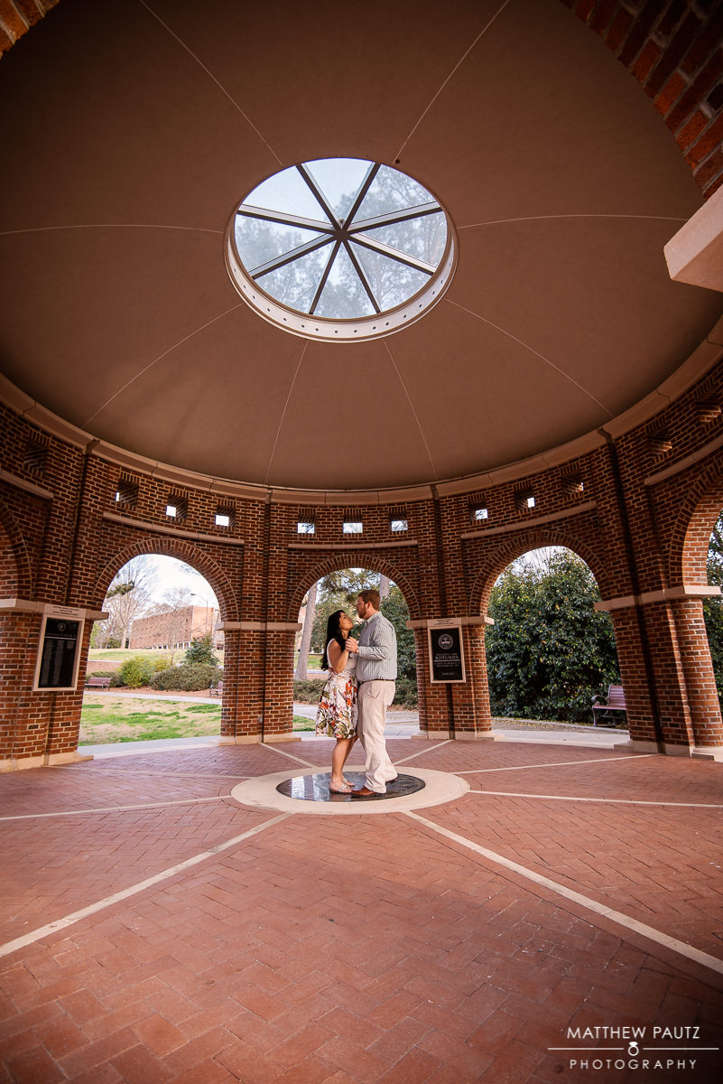 engaged couple dancing in Clemson SC