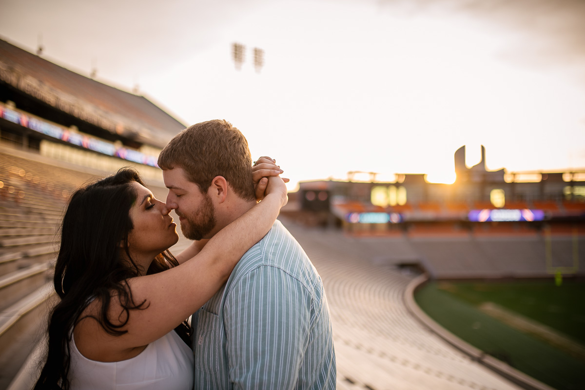 Death Valley stadium engagement photos