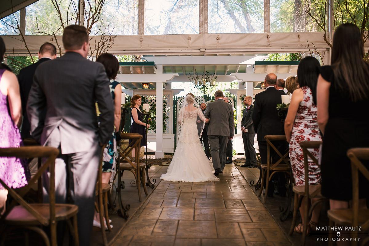 Twigs wedding ceremony