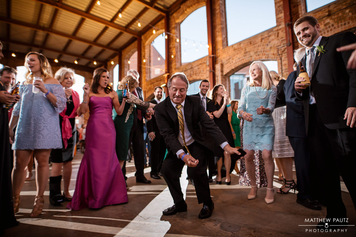 Wedding Guests dancing at Larkin's wyche pavilion wedding