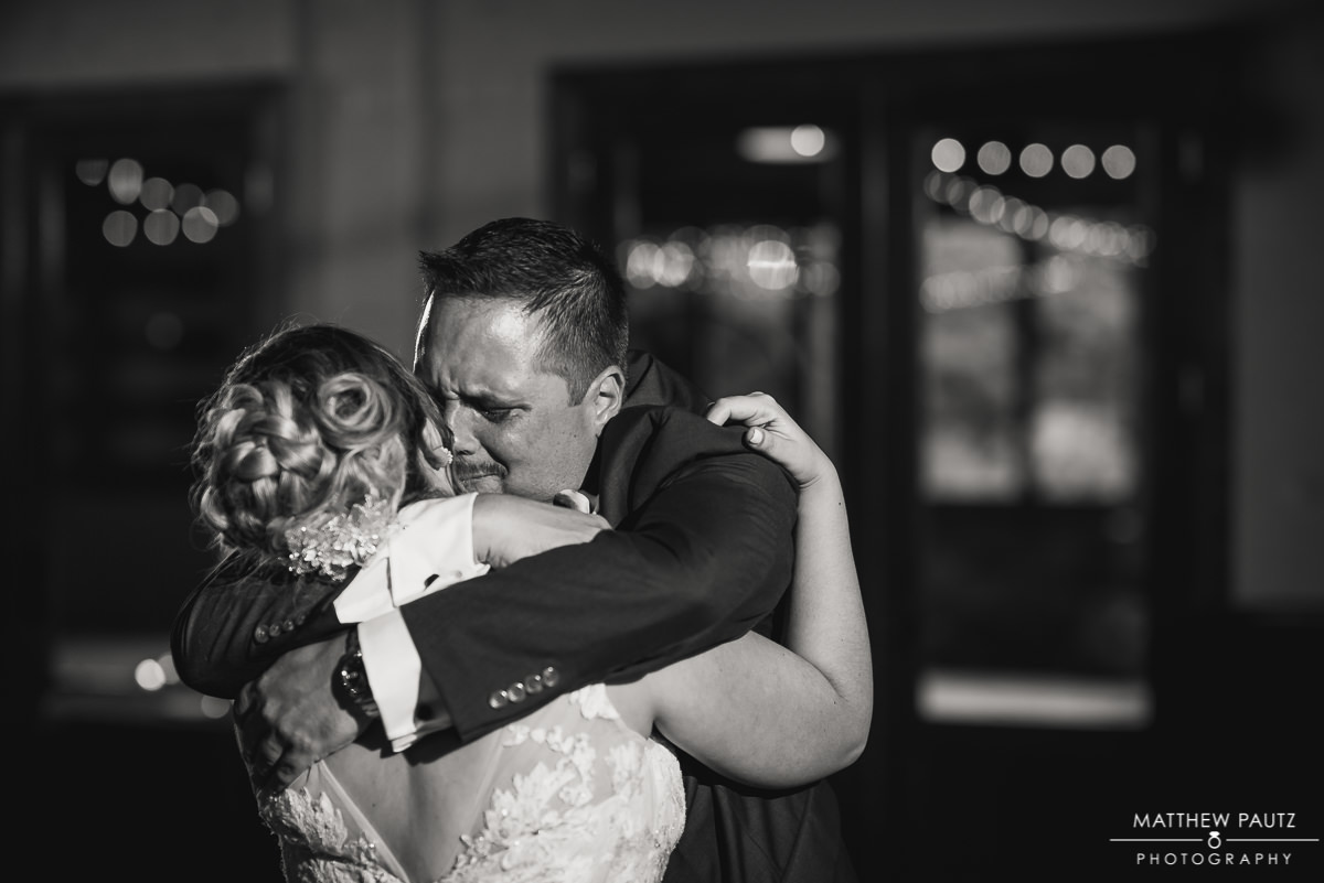 bride and her father dancing at wedding reception