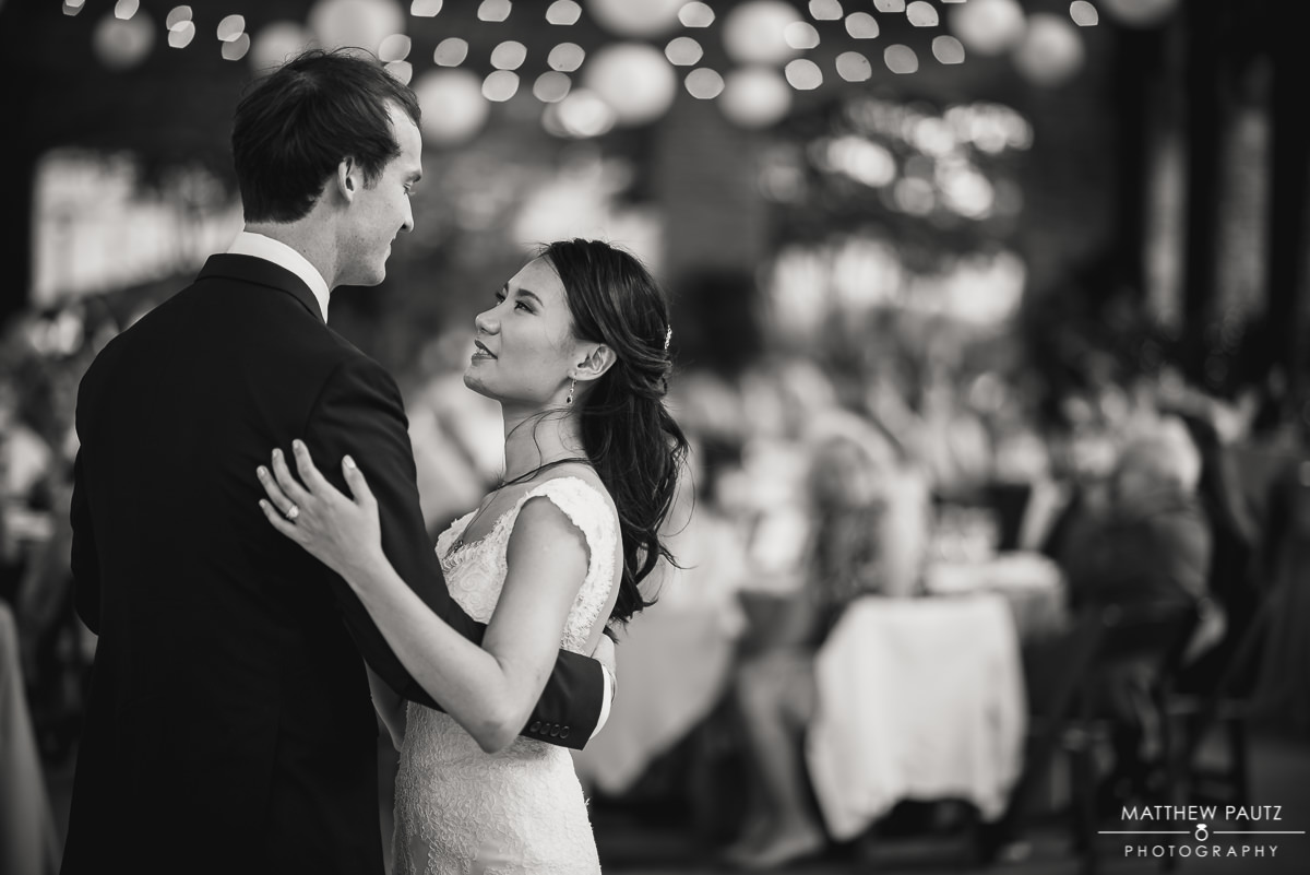 Wyche Pavilion first dance at reception